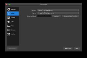 software-encoder-obs-stream-key-streaming-schluessel-electreeks